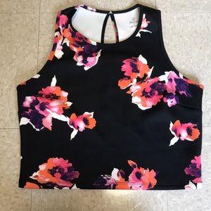 Decree Tops - Floral print crop top